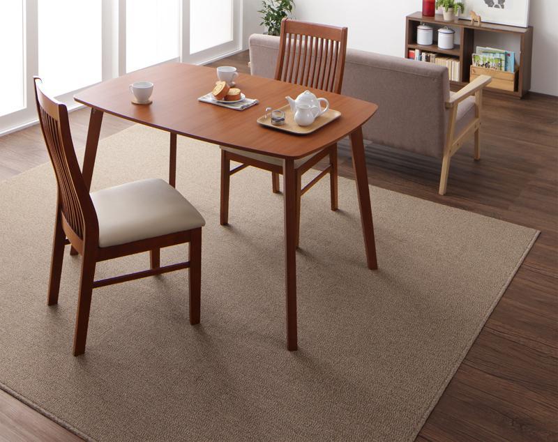 ラグ カーペット じゅうたん ラグマット 絨毯 安い マット 220×250 4畳 ブラウン 茶色 おしゃれ ホットカーペット対応 床暖房対応 防音 厚手 子供 滑り止め