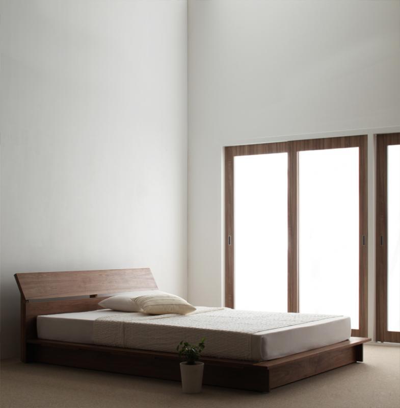 ベッド ベット 安い ダブル ダブルベッド ダブルベット ダブルサイズ ( 日本製 ポケット マットレス付き ) ウォルナット ブラウン