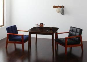 ダイニングセット ダイニングテーブルセット 2人用 二人用 椅子 ソファー ソファ ダイニングテーブル 一人暮らし おしゃれ 安い 北欧 食卓 ( 3点(テーブル+1Pソファ2脚)幅90 )