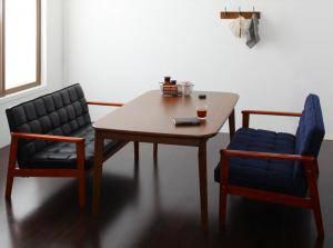 ダイニングセット ダイニングテーブルセット 4人 四人 4人用 四人用 椅子 ソファー ソファ ダイニングテーブル ベンチ おしゃれ 安い 北欧 食卓 ( 3点(テーブル+2Pソファ2脚)幅160 )
