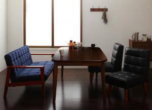 ダイニングセット ダイニングテーブルセット 4人 四人 4人用 四人用 椅子 ソファー ソファ ダイニングテーブル ベンチ おしゃれ 安い 北欧 食卓 ( 4点(テーブル+2Pソファ1脚+チェア2脚)幅160 )