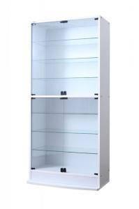 コレクションケース キャビネット ガラス ショーケース アンティーク 薄型 フィギュア ディスプレイ 棚 ディスプレイケース コレクションラック ( 本体両開きタイプ 高さ180 奥行29 )