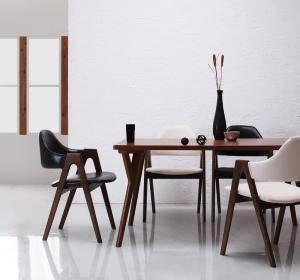 ダイニングセット ダイニングテーブルセット 4人 四人 4人用 四人用 椅子 ダイニングテーブル おしゃれ 安い 北欧 食卓 レザー 革 合皮 ( 5点(テーブル+チェア4脚)幅140 )