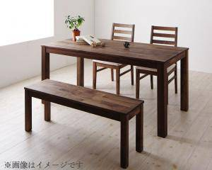 ダイニングセット ダイニングテーブルセット 4人 四人 4人用 四人用 椅子 ダイニングテーブル ベンチ おしゃれ 安い 北欧 食卓 ( 4点(テーブル+チェア2脚+ベンチ1脚)ウォールナット PVC座幅160 )