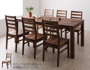 ダイニングセット ダイニングテーブルセット 6人 六人 6人用 六人用 椅子 ダイニングテーブル おしゃれ 安い 北欧 食卓 ( 7点(テーブル+チェア6脚)ウォールナット PVC座幅180 )