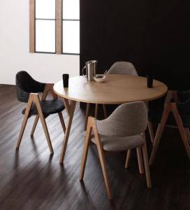 ダイニングテーブルセット 4人用 丸テーブル 丸型 椅子 オンラインショッピング おしゃれ 安い 北欧 スタイリッシュ クール ストアー 直径120 ミッドセンチュリー 机+チェア4脚 5点 デザイナーズ 食卓