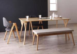 ダイニングセット ダイニングテーブルセット 4人 四人 4人用 四人用 椅子 ダイニングテーブル ベンチ おしゃれ 安い 北欧 食卓 ( 4点(テーブル+チェア2脚+ベンチ1脚)幅170 )