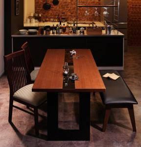 ダイニングテーブルセット 4人用 椅子 ベンチ おしゃれ 安い 北欧 食卓 4点 ( 机+チェア2+長椅子1 ) 幅150 デザイナーズ クール スタイリッシュ ミッドセンチュリー 2本脚 和モダン ファミレス風 ガラス