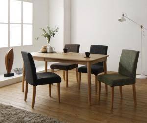 ダイニングテーブルセット 4人用 椅子 おしゃれ 安い 北欧 食卓 5点 ( 机+チェア4脚 ) 幅150 デザイナーズ クール スタイリッシュ ミッドセンチュリー 無垢 引き出し 収納