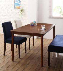 ダイニングテーブルセット 4人用 椅子 ベンチ おしゃれ 安い 北欧 食卓 4点 ( 机+チェア2+長椅子1 ) 幅120 デザイナーズ クール スタイリッシュ ミッドセンチュリー ウォールナット