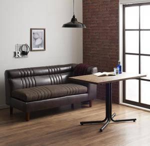 ダイニングセット ダイニングテーブルセット 2人用 二人用 椅子 ソファー ソファ ダイニングテーブル 一人暮らし ベンチ おしゃれ 安い 北欧 食卓 レザー 革 合皮 ( 2点(テーブル+2Pソファ1脚)右アームタイプ幅100 )