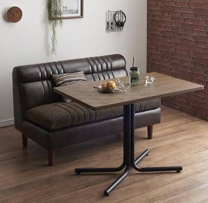 ダイニングセット ダイニングテーブルセット 2人用 二人用 椅子 ソファー ソファ ダイニングテーブル 一人暮らし ベンチ おしゃれ 安い 北欧 食卓 レザー 革 合皮 ( 2点(テーブル+2Pソファ1脚)バックレストソファ幅100 )