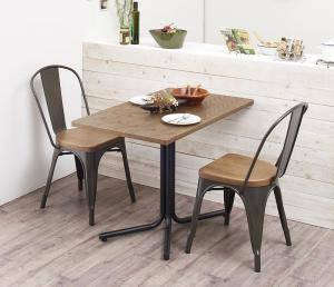 ダイニングセット ダイニングテーブルセット 2人 二人 2人用 二人用 椅子 ダイニングテーブル 一人暮らし おしゃれ 安い 北欧 食卓 ( 3点(テーブル+チェア2脚)スチールチェア幅100 )