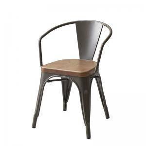 ダイニングチェア 椅子 おしゃれ 北欧 安い アンティーク 木製 シンプル ( 食卓椅子 1脚アームチェア )