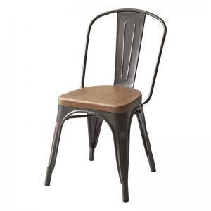 ダイニングチェア 椅子 おしゃれ 北欧 安い アンティーク 木製 シンプル ( 食卓椅子 1脚スチールチェア )