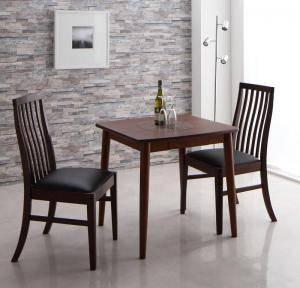 ダイニングセット ダイニングテーブルセット 2人 二人 2人用 二人用 椅子 ダイニングテーブル 一人暮らし おしゃれ 安い 北欧 食卓 ( 3点(テーブル+チェア2脚)ブラウン幅75 )