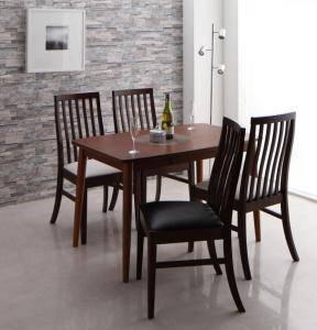 ダイニングセット ダイニングテーブルセット 4人 四人 4人用 四人用 椅子 ダイニングテーブル おしゃれ 安い 北欧 食卓 ( 5点(テーブル+チェア4脚)ブラウン幅115 )