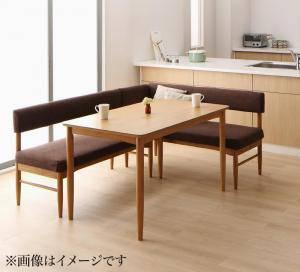 『4年保証』 ダイニングテーブルセット 4人用 コーナーソファー L字 l型 ファミレス風 ベンチ 椅子 おしゃれ 安い 北欧 食卓 3点 ( 机+ソファ1+肘ソファ1 ) ナチュラル 幅150 デザイナーズ クール スタイリッシュ ミッドセンチュリー オーク 木製, ゴルフウェアUSA d156e3e0