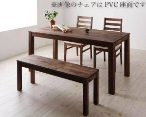 ダイニングセット ダイニングテーブルセット 4人 四人 4人用 四人用 椅子 ダイニングテーブル ベンチ おしゃれ 安い 北欧 食卓 ( 4点(テーブル+チェア2脚+ベンチ1脚)ウォールナット 板座幅160 )