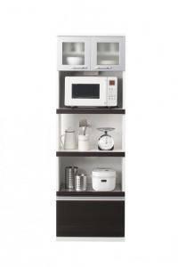 食器棚 おしゃれ 北欧 安い キッチン 収納 棚 ラック 木製 大容量 カップボード ダイニングボード ( キッチンボード 設置有 幅60 )