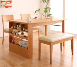 ダイニングセット ダイニングテーブルセット 4人 四人 4人用 四人用 椅子 ダイニングテーブル ベンチ おしゃれ 伸縮 伸縮式 伸長式 安い 北欧 食卓 ( 4点(テーブル+チェア2脚+ベンチ1脚)幅100-135 )