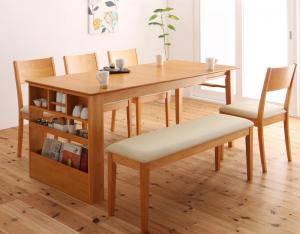 ダイニングセット ダイニングテーブルセット 6人 六人 6人用 六人用 椅子 ダイニングテーブル ベンチ おしゃれ 伸縮 伸縮式 伸長式 安い 北欧 食卓 ( 6点(テーブル+チェア4脚+ベンチ1脚)幅135-170 )