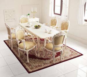 ダイニングセット ダイニングテーブルセット 6人 六人 6人用 六人用 椅子 ダイニングテーブル おしゃれ 伸縮 伸縮式 伸長式 安い 北欧 食卓 ( 7点(テーブル+チェア6脚)チェア 肘掛け 幅140-180 )