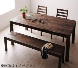 ダイニングセット ダイニングテーブルセット 5人 五人 5人用 五人用 椅子 ダイニングテーブル ベンチ おしゃれ 安い 北欧 食卓 ( 4点(テーブル+チェア2脚+ベンチ1脚)ウォールナット 板座幅135 )