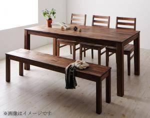 ダイニングセット ダイニングテーブルセット 6人 六人 6人用 六人用 椅子 ダイニングテーブル ベンチ おしゃれ 安い 北欧 食卓 ( 5点(テーブル+チェア3脚+ベンチ1脚)ウォールナット 板座幅180 )