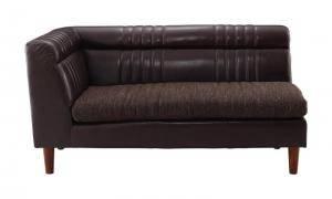 ソファー ソファ 2人掛け 二人掛け 2人用 ダイニングベンチ ダイニングチェア 椅子 おしゃれ 北欧 安い 木製 二人用 レザー 革 合皮 ( ダイニングソファ左アームタイプ2P )