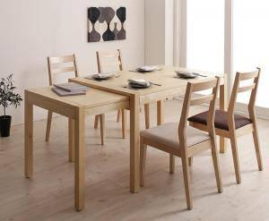 ダイニングセット ダイニングテーブルセット 4人 四人 4人用 四人用 椅子 ダイニングテーブル おしゃれ 伸縮 伸縮式 伸長式 安い 北欧 食卓 ( 5点(テーブル+チェア4脚)幅120-200 )