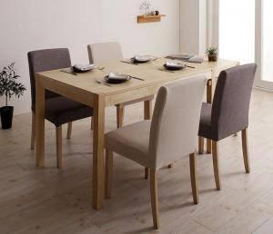 ダイニングセット ダイニングテーブルセット 4人 四人 4人用 四人用 椅子 ダイニングテーブル おしゃれ 伸縮 伸縮式 伸長式 安い 北欧 食卓 ( 5点(テーブル+チェア4脚)シンプルタイプ幅120-200 )