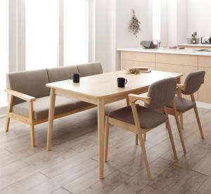 ダイニングセット ダイニングテーブルセット 4人 四人 4人用 四人用 椅子 ダイニングテーブル ベンチ おしゃれ 安い 北欧 食卓 ( 4点(テーブル+3Pソファ1脚+チェア2脚)幅150 )