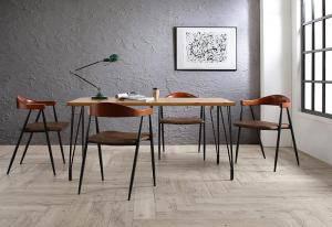 ダイニングテーブルセット 4人用 椅子 おしゃれ 安い 北欧 食卓 5点 ( 机+チェア4脚 ) 幅150 西海岸 ヴィンテージ インダストリアル レトロ サーフ ブルックリン ミッドセンチュリー パイン 木製