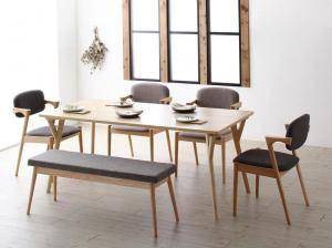 ダイニングセット ダイニングテーブルセット 6人 六人 6人用 六人用 椅子 ダイニングテーブル ベンチ おしゃれ 安い 北欧 食卓 ( 6点(テーブル+チェア4脚+ベンチ1脚)幅170 )
