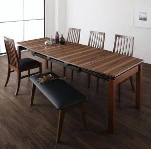 ダイニングセット ダイニングテーブルセット 6人 六人 6人用 六人用 椅子 ダイニングテーブル ベンチ おしゃれ 伸縮 伸縮式 伸長式 安い 北欧 食卓 ( 6点(テーブル+チェア4脚+ベンチ1脚)幅140-240 )