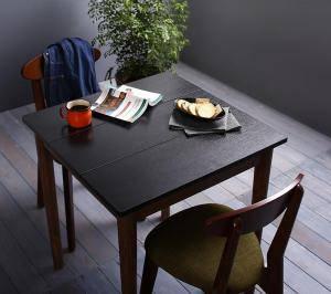 ダイニングセット ダイニングテーブルセット 2人 二人 2人用 二人用 椅子 ダイニングテーブル 一人暮らし おしゃれ 安い 北欧 食卓 ( 3点(テーブル+チェア2脚)ブラック×ブラウン 幅68 )