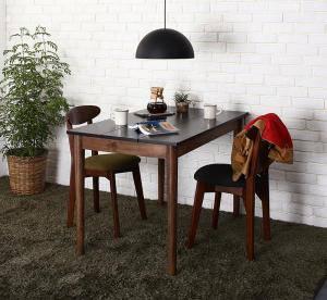 ダイニングテーブルセット 2人用 椅子 一人暮らし コンパクト 小さめ ワンルーム おしゃれ 安い 北欧 食卓 3点 ( 机+チェア2脚 ) 黒×ブラウン 幅115 デザイナーズ クール スタイリッシュ ミッドセンチュリー パイン 木製