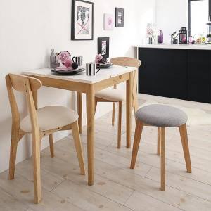 ダイニングセット ダイニングテーブルセット 3人 三人 3人用 三人用 椅子 ダイニングテーブル おしゃれ 安い 北欧 食卓 ( 4点(テーブル+チェア2脚+スツール1脚)幅68 )