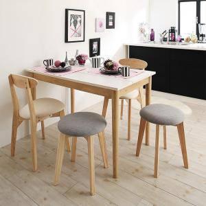 ダイニングセット ダイニングテーブルセット 4人 四人 4人用 四人用 椅子 ダイニングテーブル おしゃれ 安い 北欧 食卓 ( 5点(テーブル+チェア2脚+スツール2脚)幅115 )