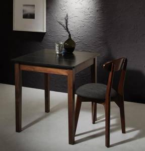 ダイニングセット ダイニングテーブルセット 1人 一人 1人用 一人用 椅子 ダイニングテーブル 一人暮らし おしゃれ 安い 北欧 食卓 ( 2点(テーブル+チェア1脚)ブラック×ウォールナット 幅68 )