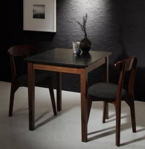 ダイニングセット ダイニングテーブルセット 2人 二人 2人用 二人用 椅子 ダイニングテーブル 一人暮らし おしゃれ 安い 北欧 食卓 ( 3点(テーブル+チェア2脚)ブラック×ウォールナット 幅68 )