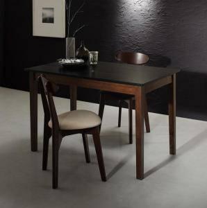 ダイニングセット ダイニングテーブルセット 2人 二人 2人用 二人用 椅子 ダイニングテーブル 一人暮らし おしゃれ 安い 北欧 食卓 ( 3点(テーブル+チェア2脚)ブラック×ウォールナット 幅115 )