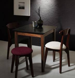 ダイニングセット ダイニングテーブルセット 3人 三人 3人用 三人用 椅子 ダイニングテーブル おしゃれ 安い 北欧 食卓 ( 4点(テーブル+チェア2脚+スツール1脚)ブラック×ウォールナット 幅68 )