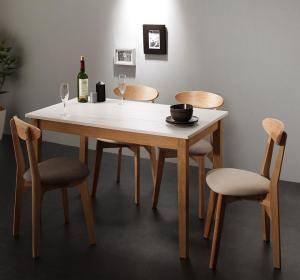 ダイニングセット ダイニングテーブルセット 4人 四人 4人用 四人用 椅子 ダイニングテーブル おしゃれ 安い 北欧 食卓 ( 5点(テーブル+チェア4脚)ホワイト×ナチュラル 幅115 )