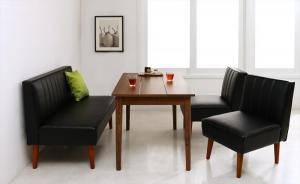 ダイニングセット ダイニングテーブルセット 4人 四人 4人用 四人用 椅子 ソファー ソファ ダイニングテーブル おしゃれ 安い 北欧 食卓 レザー 革 合皮 ( 4点(テーブル+2Pソファ1脚+1Pソファ2脚)幅115 )