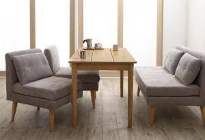 ダイニングセット ダイニングテーブルセット 4人 四人 4人用 四人用 椅子 ソファー ソファ ダイニングテーブル おしゃれ 安い 北欧 食卓 ( 4点(テーブル+2Pソファ1脚+1Pソファ2脚)幅115 )