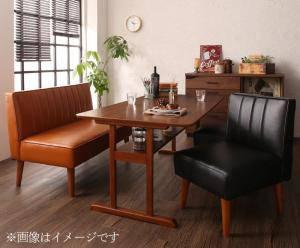 ダイニングセット ダイニングテーブルセット 4人 四人 4人用 四人用 椅子 ソファー ソファ ダイニングテーブル おしゃれ 安い 北欧 食卓 レザー 革 合皮 ( 4点(テーブル+2Pソファ1脚+1Pソファ2脚)幅120 )