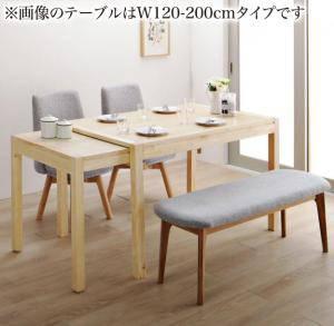 ダイニングセット ダイニングテーブルセット 4人 四人 4人用 四人用 椅子 ダイニングテーブル ベンチ おしゃれ 伸縮 伸縮式 伸長式 安い 北欧 食卓 ( 4点(テーブル+チェア2脚+ベンチ1脚)幅135-235 )