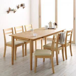 ダイニングセット ダイニングテーブルセット 6人 六人 6人用 六人用 椅子 ダイニングテーブル おしゃれ 伸縮 伸縮式 伸長式 安い 北欧 食卓 ( 7点(テーブル+チェア6脚)ワゴン無 幅120-165 )